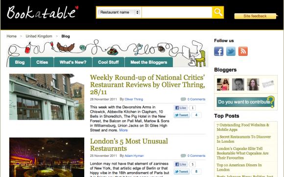 Bookatable Blog