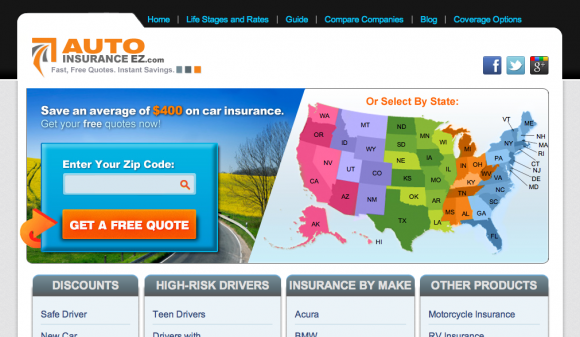 Auto Insurance Quotes from AutoinsuranceEZ.com