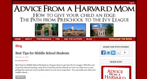 Permalink to Advice from a Harvard Mom post image