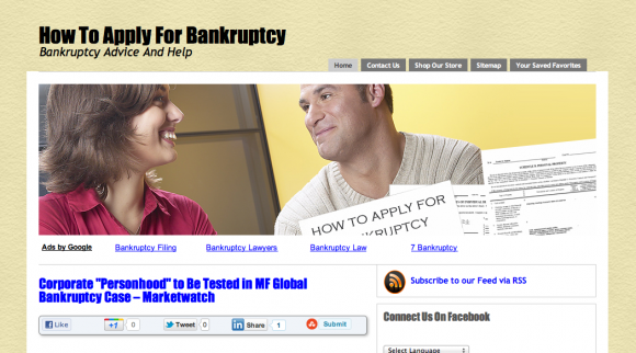 How to Apply for Bankruptcy