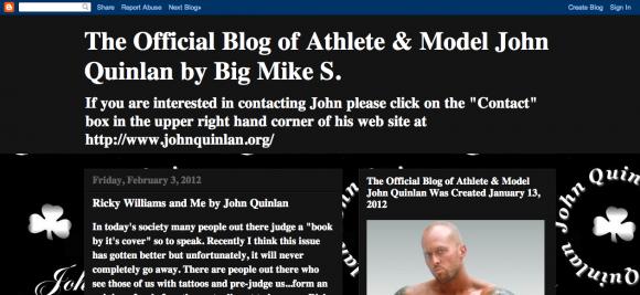 The Official Blog of Athlete & Model John Quinlan