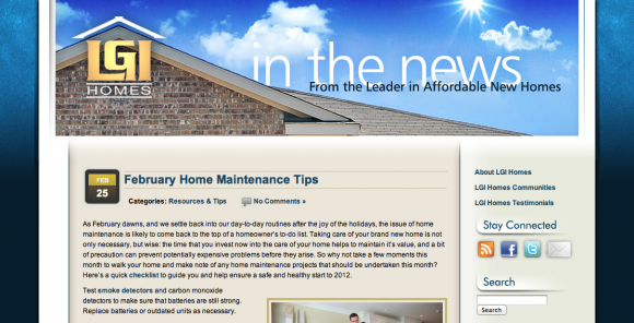 LGI Homes New Home Blog