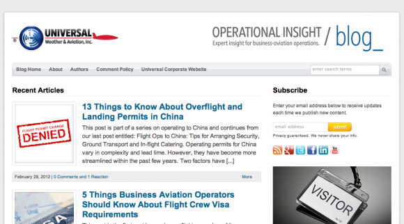Operational Insight - Expert Insight for Business-Aviation