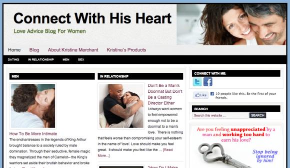 A relationship blog for women
