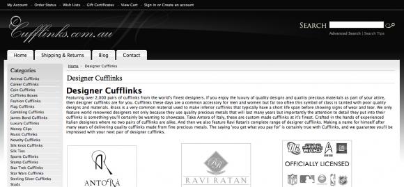 Designer Cufflinks