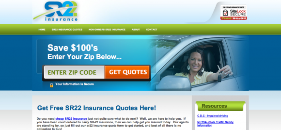 SR22 Insurance Quotes, Cheap SR22 Insurance Online