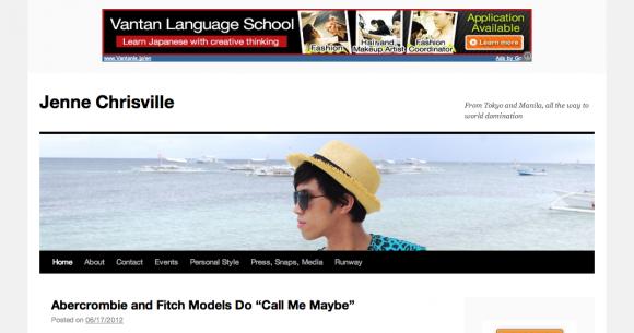 Tokyo-based Filipino fashion blogger Gervin