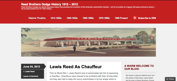 Reed Brothers Dodge History 1915 – 2012