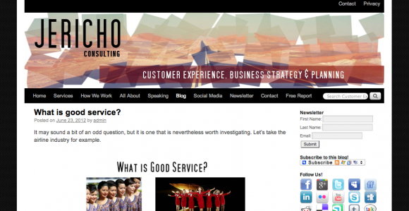 Jericho's Customer Experience Blog