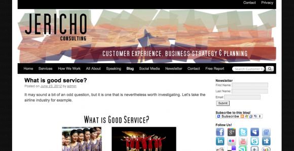 Jericho's Customer Experience Blog