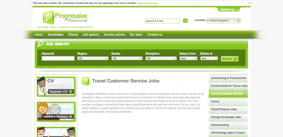 Travel customer service jobs