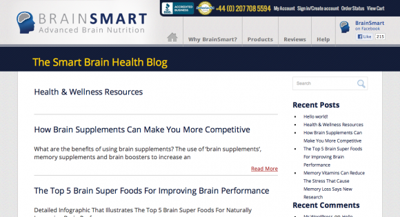 The Brainsmart Brain Health Blog