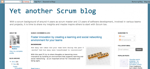 Yet another Scrum blog