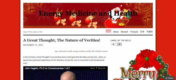 Energy Medicine and Health