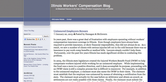Illinois Workers' Compensation Lawyers Blog