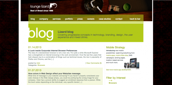 Lounge Lizard Website and Mobile App Development