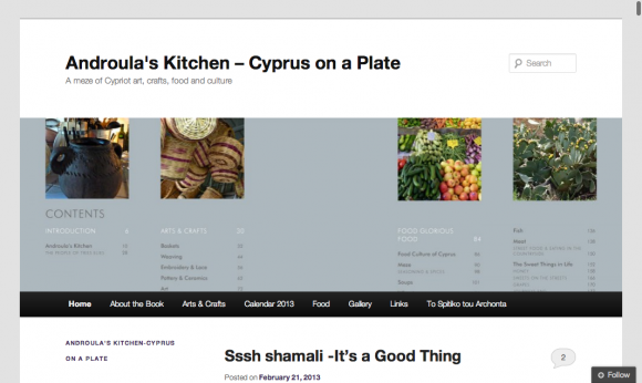 Androula's Kitchen- Cyprus on a Plate