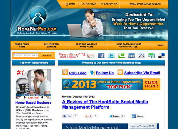 HomeNetPro.com's Work From Home Business Blog