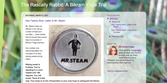 The Rascally Rabbit: A Bikram Yoga Trip