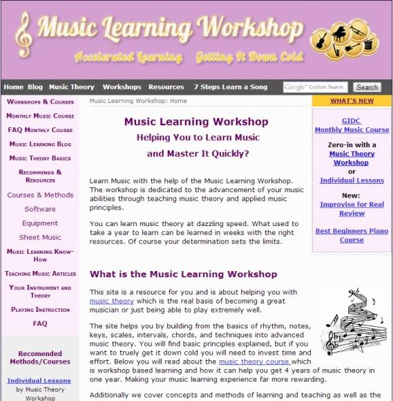 Music Learning Workshop