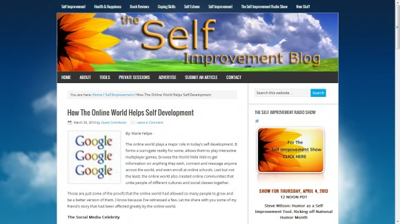 The Self Improvement Blog