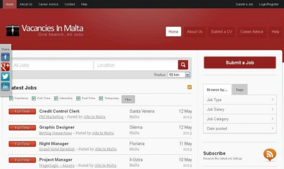 Vacancies in Malta