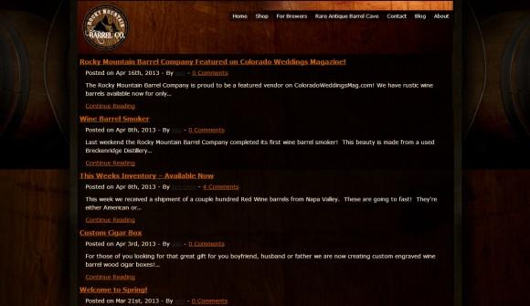 Rocky Mountain Barrel Company blog