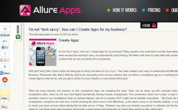"I'm not ""tech savvy"", how can I Create Apps for my business?"