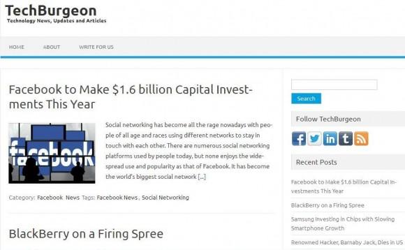 TechBurgeon.com: Technology News, Updates and Articles