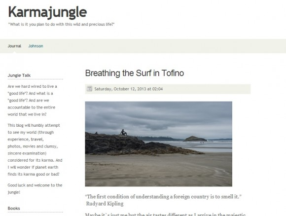 Breathing the surf in Tofino