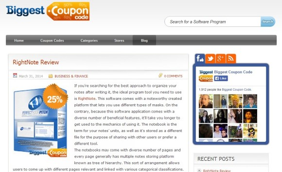 Biggest Coupon Code Blog