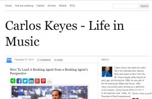 Permalink to Carlos Keyes – Life In Music Blog post image