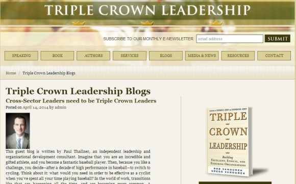 Triple Crown Leadership Blog