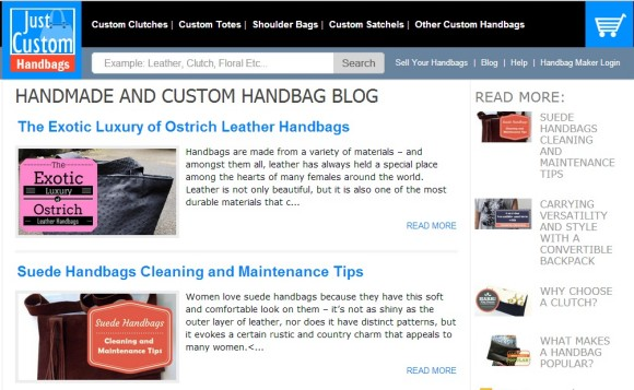 Handmade and Custom Handbags Blog