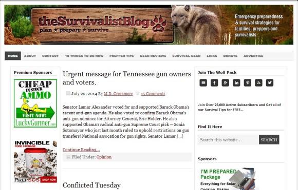 The Survival List Blog