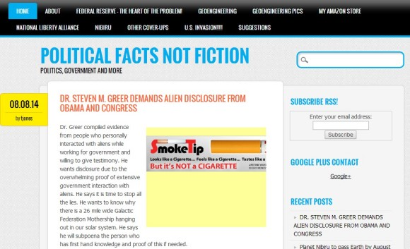 Political Facts Not Fiction