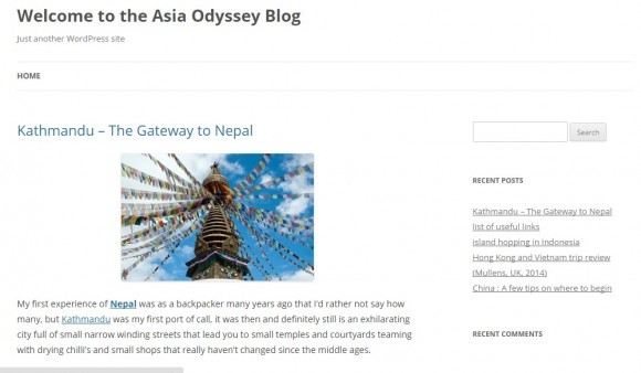 Asia Odyssey Blog