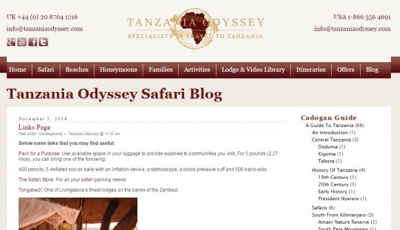 The Tanzania Odyssey Blog