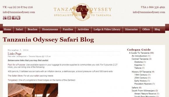 The Tanzania Odyssey Blog
