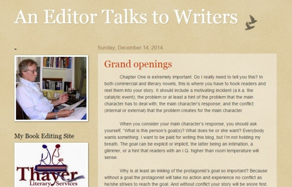 An Editor Talks to Writers