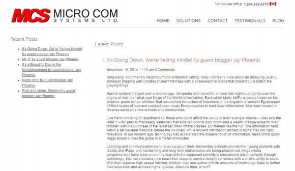 Micro Com Systems Blog