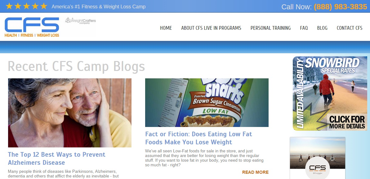 CFS Fitness & Weight Loss Camp Blog