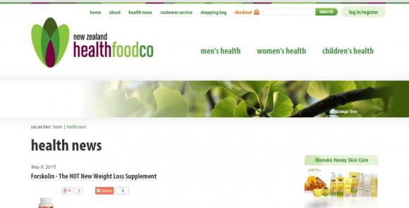 New Zealand Health Food News