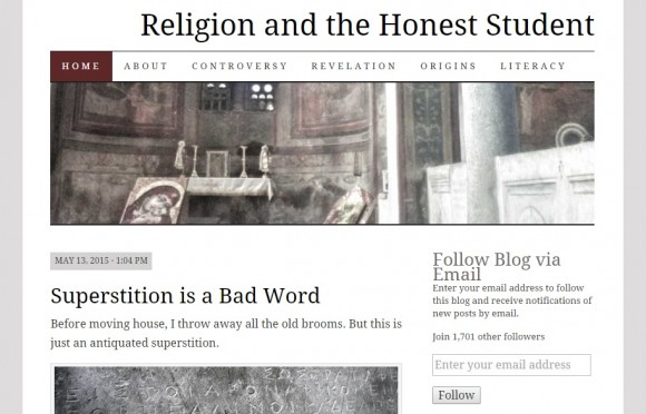 About Religion and the Honest Student
