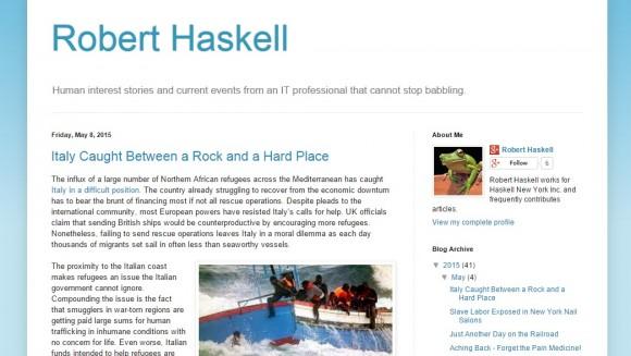 Robert Haskell Blog