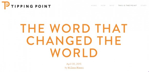 The Word That Changed The World