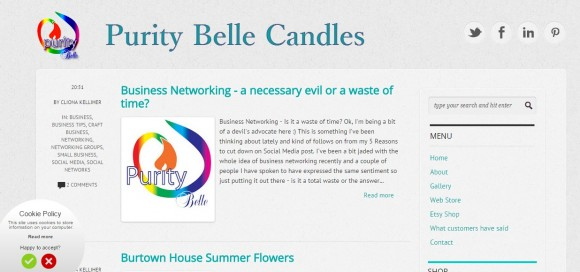 Purity Belle Candles