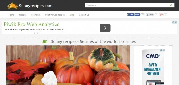Sunny Recipes blog