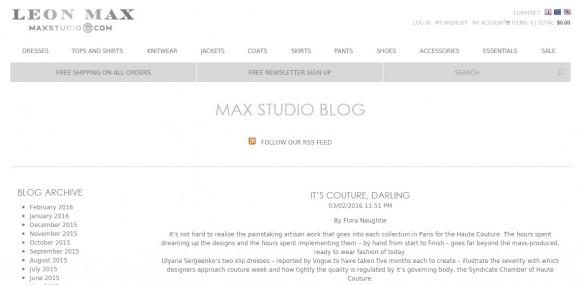 Leon Max – Max Studio Blog