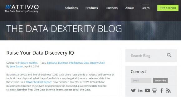 Attivio Data Discovery Blog